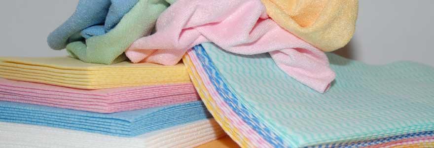 Textiles d'essuyage et chiffons