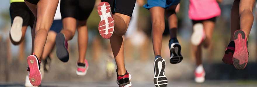 chaussures de course avec amorti