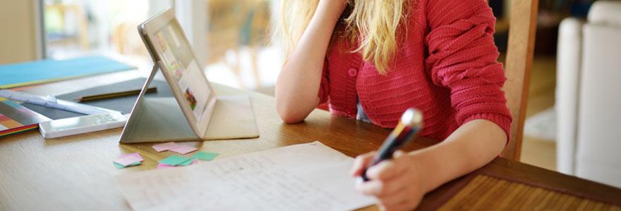 privilégier le soutien scolaire en ligne